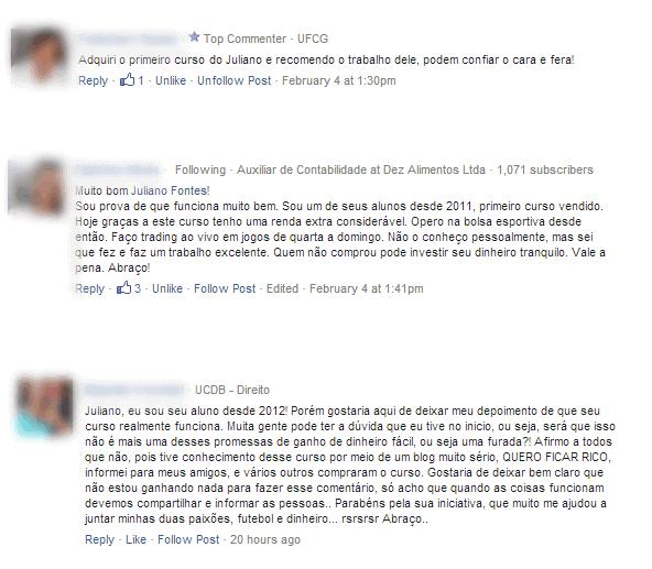 comentarios de alunos