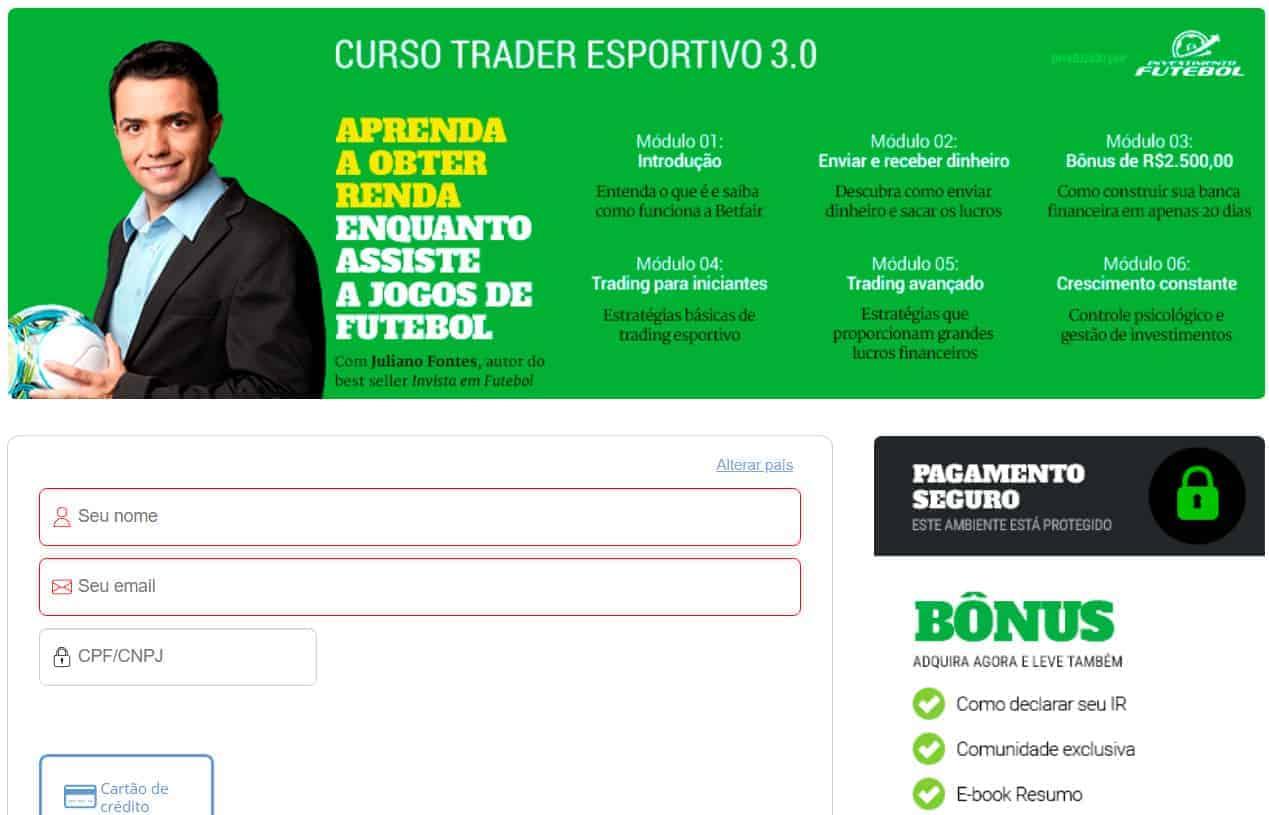 comprar o curso de trader esportivo