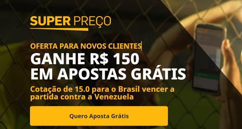 betfair bônus brasil x venezuela (07-10-2021)