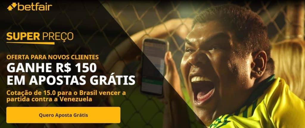 brasil x venezuela promoção Betfair Esportes