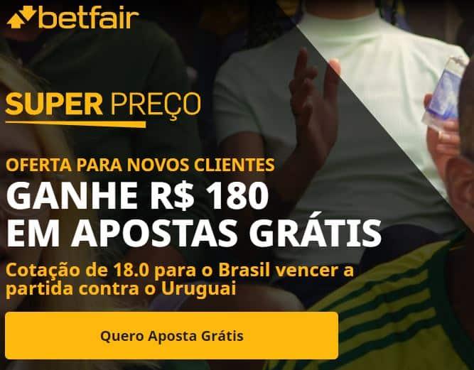 betfair bonus - brasil x uruguai (14-10-2021)