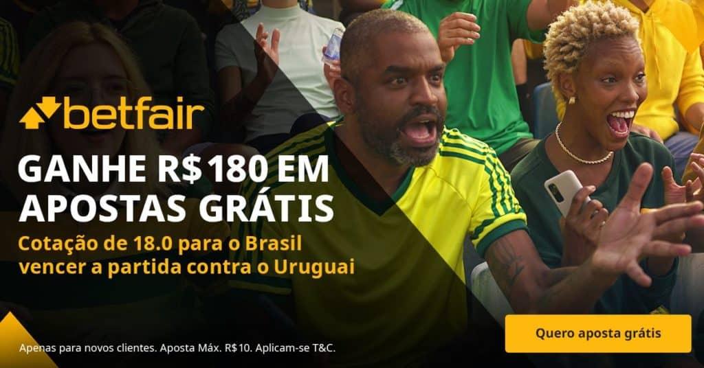 brasil x uruguai bônus Betfair