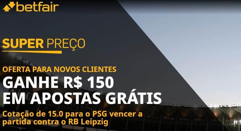 super preço betfair psg x rb leipzig (19-10-2021)